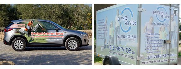 Digitaldruck und Großbilddruck auf Ihrem Firmenfahrzeug