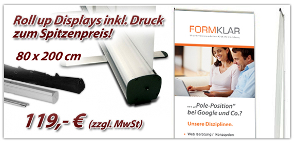 Roll up Display inklusive Druck - Sonderangebot in Erfurt