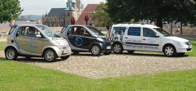 Folienbeschriftung Ihrer Firmen-Autoflotte - Firmenwagen in Erfurt und Umgebung