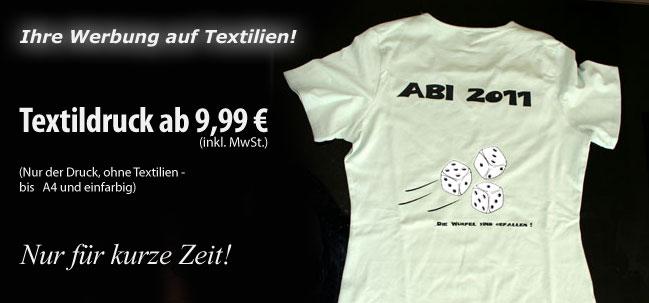 Sonderangebot für Textildruck - T-Shirt Druck in Erfurt